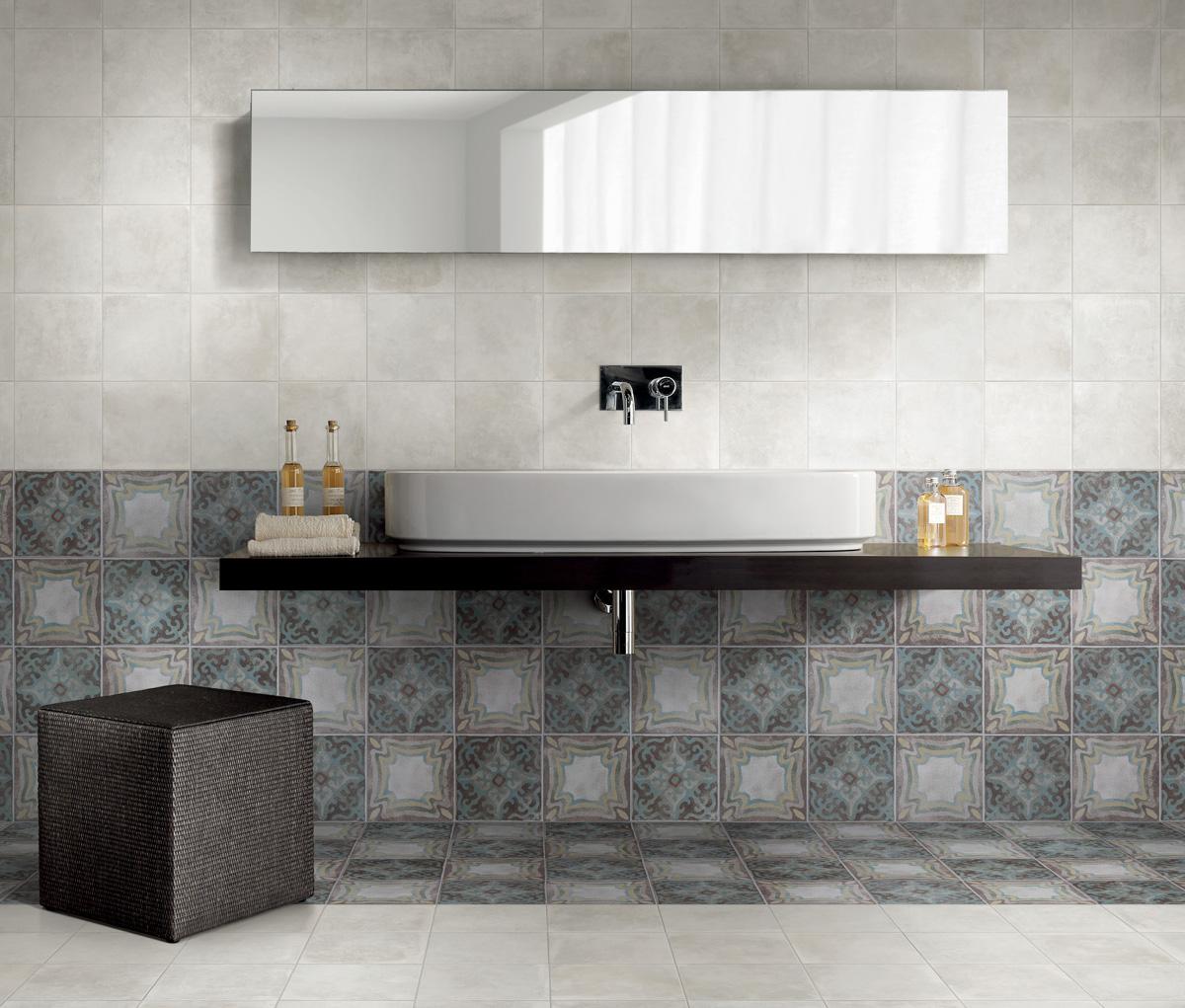 Panaria memory mood copper tegels tg wonen woonmagazine - Tegel patroon badkamer ...