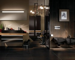 Grote tegels kleine badkamer