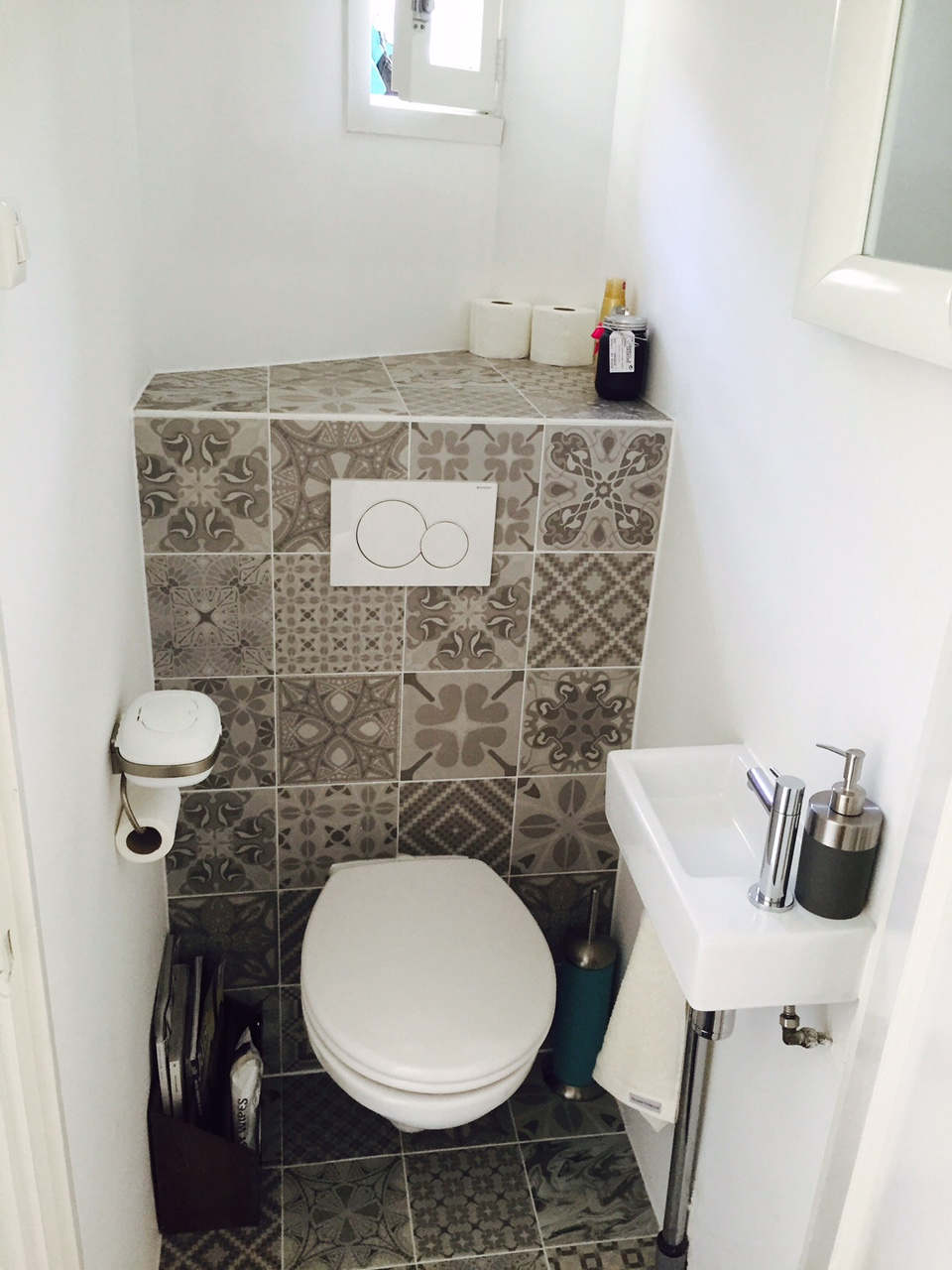 Patroontegels in toilet - Patchwork