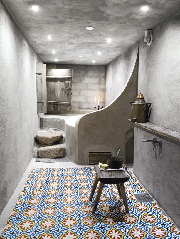 Marokkaanse Tegels Badkamer met Cement stuc
