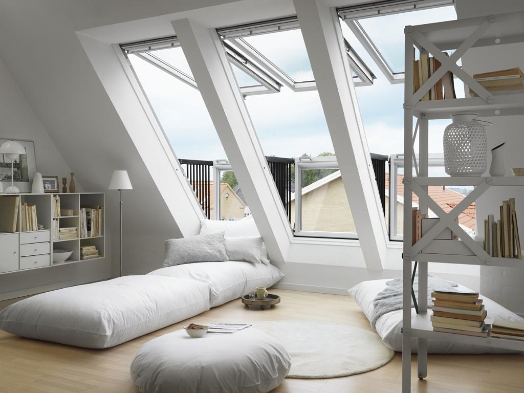 Zolder met dakramen   tg wonen woonmagazine