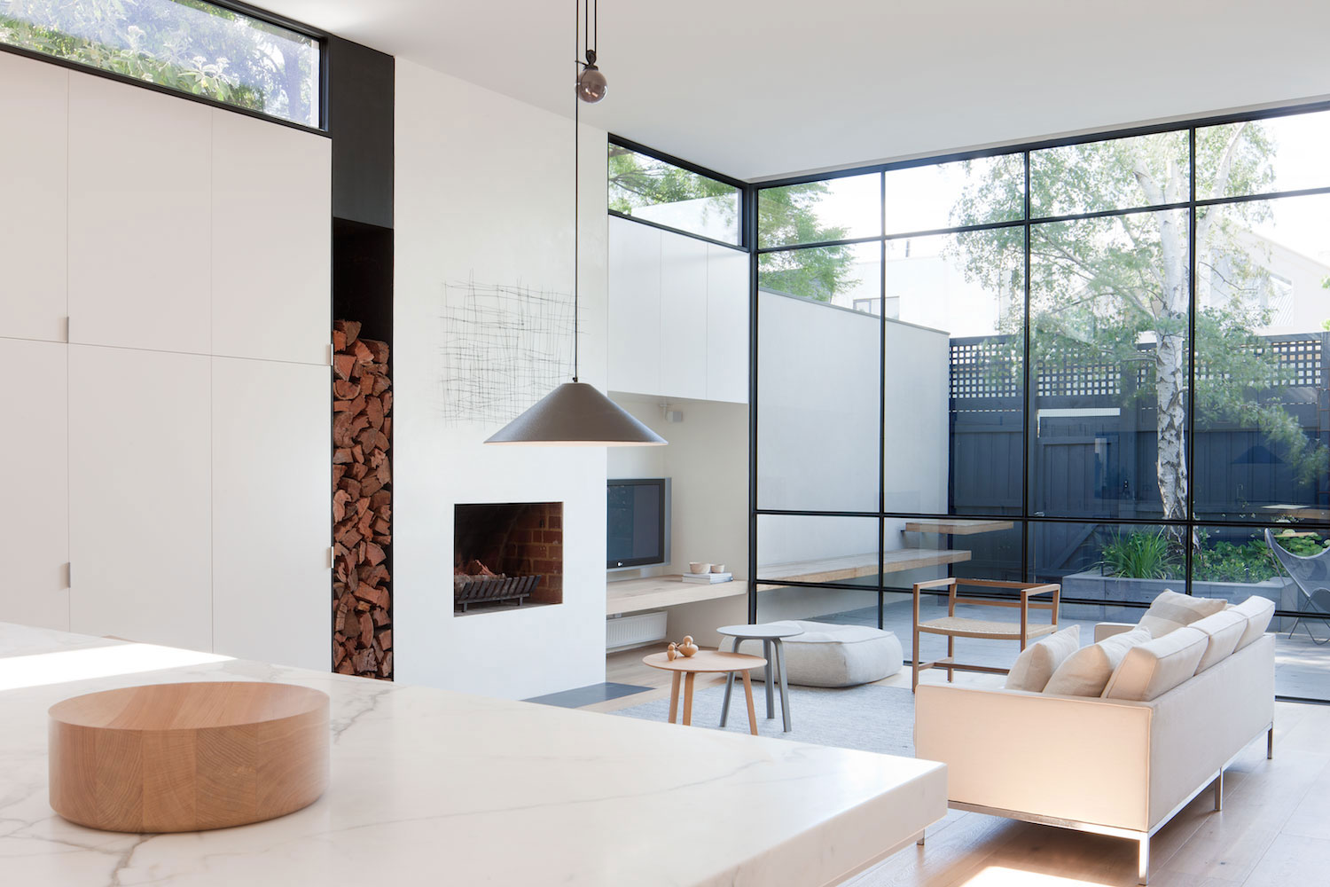 Woonkamer Bruin Wit : Bruin wit interieur thomas gaspersz