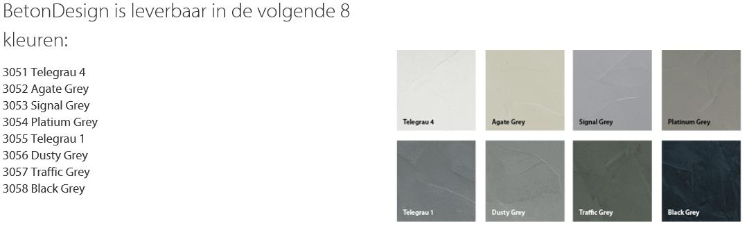 Eurocol BetonDesign Kleuren