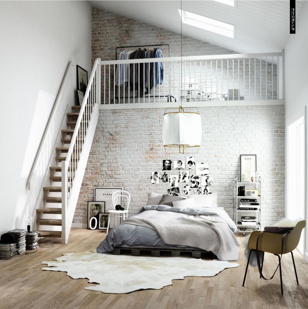 slaapkamer laminaat scandinavisch