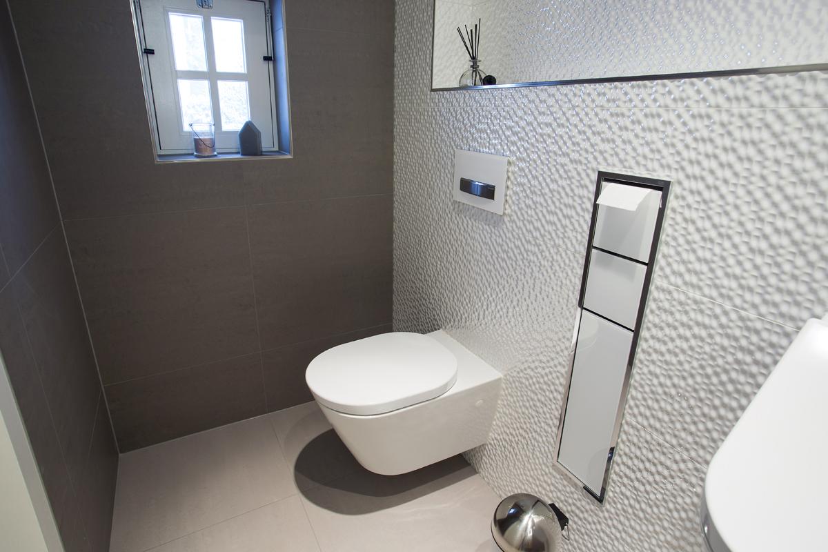 Welk formaat tegels in het toilet tgwonen