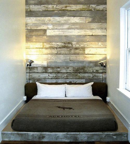 Behang achter bed