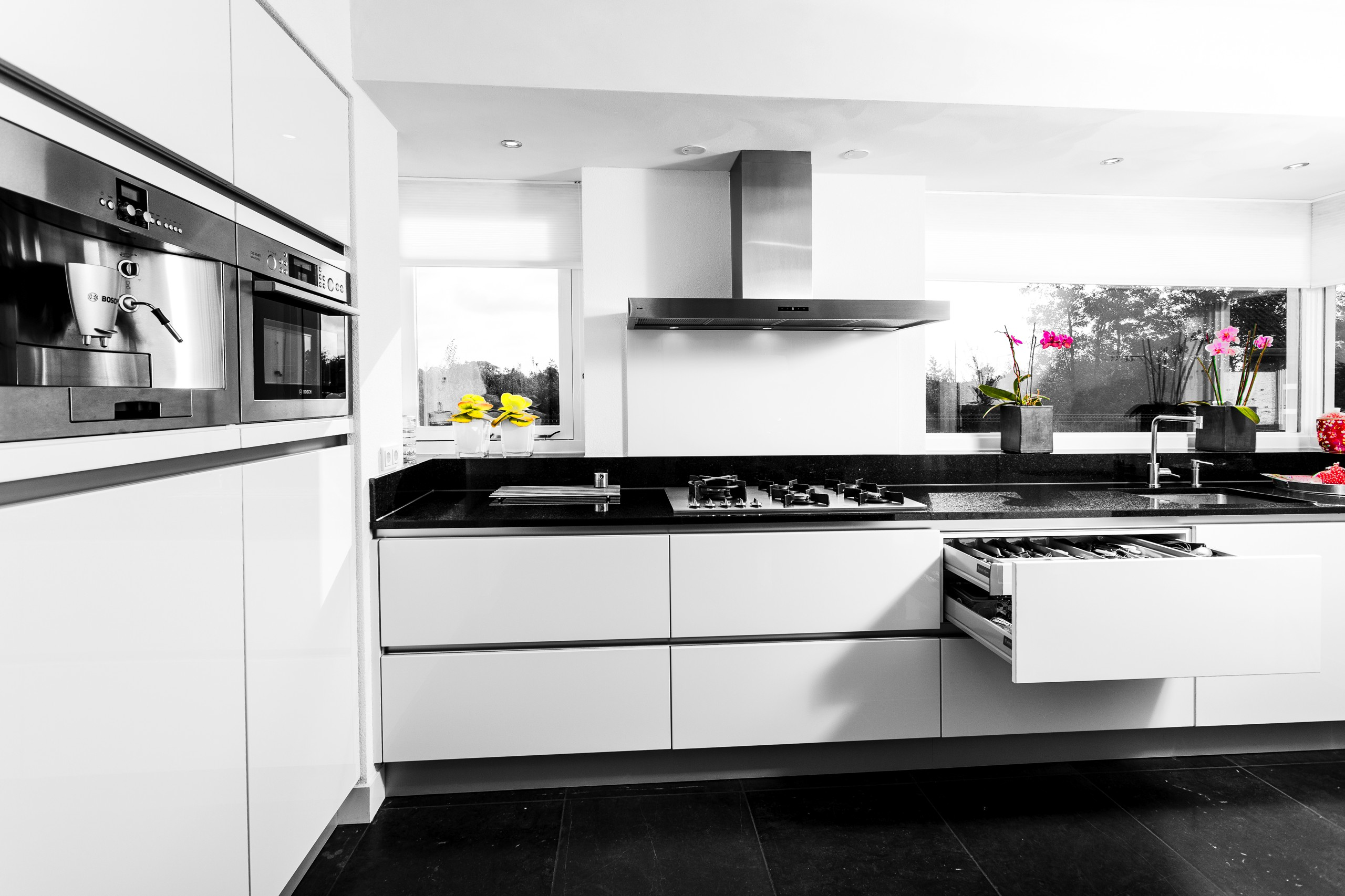 welke kleur vloer bij witte hoogglans keuken tg wonen woonmagazine