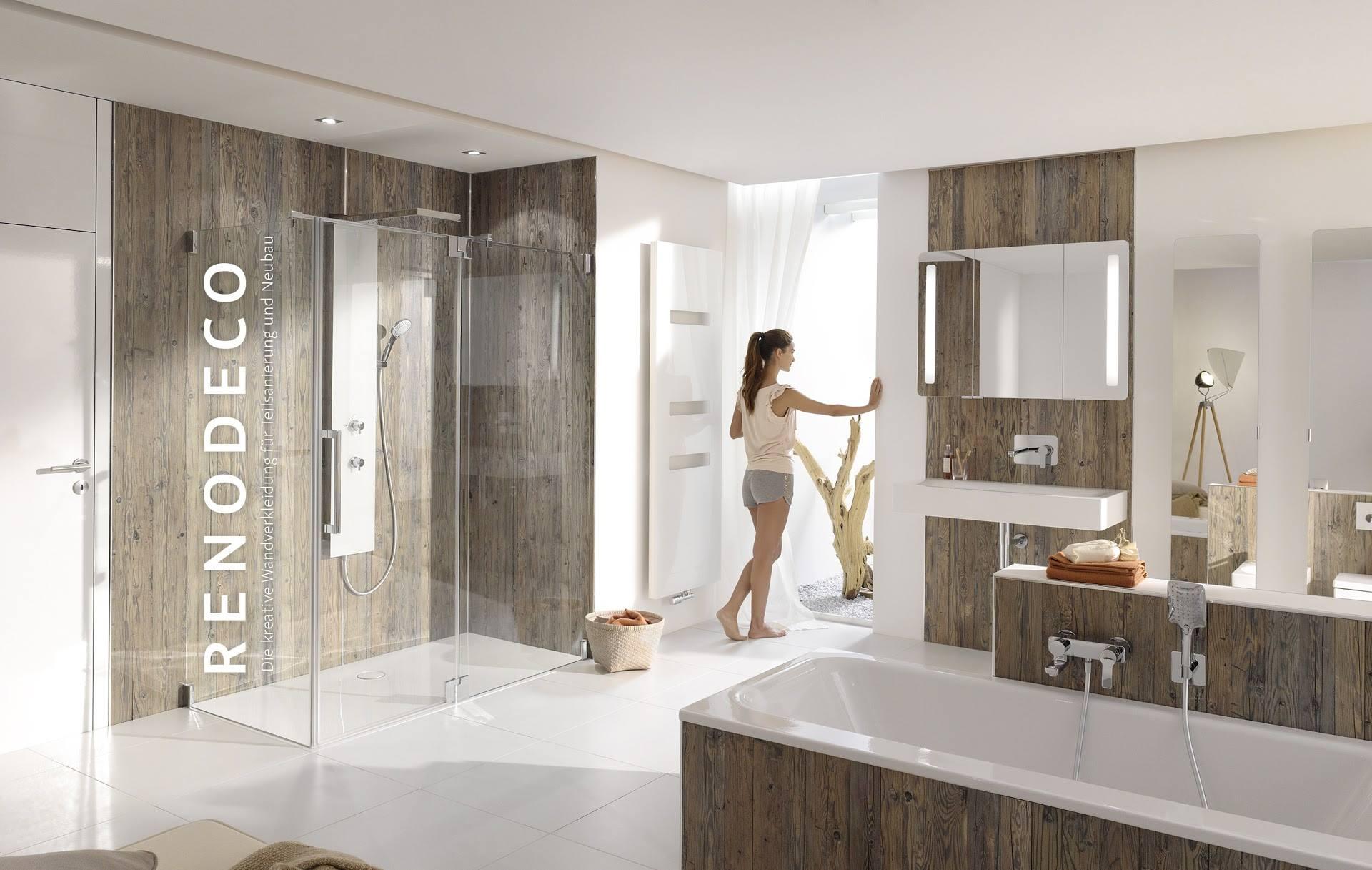 Witte 60x60 vloertegel voor badkamer met houtlook tegels