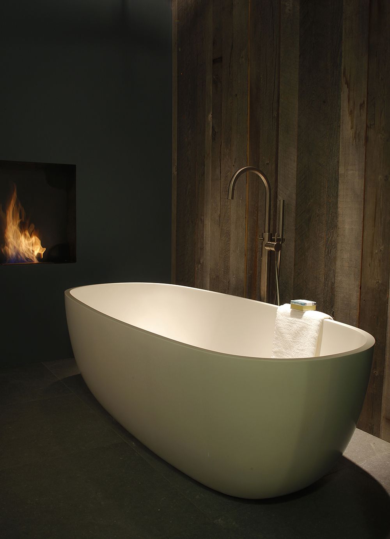 Sfeervolle moderne badkamer