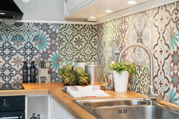Tegels Keuken Achterwand : Cement Tile Kitchen Backsplash
