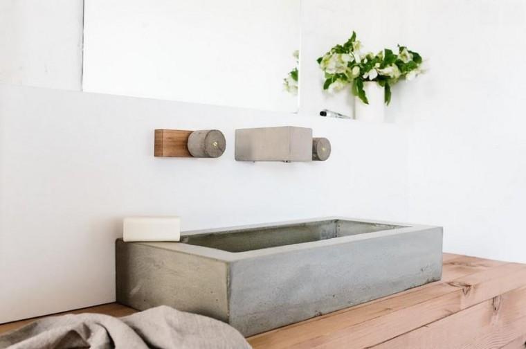 Badkamer Tegel Betonlook : Interieur ideeen betonlook tegels badkamer en commode betonlook