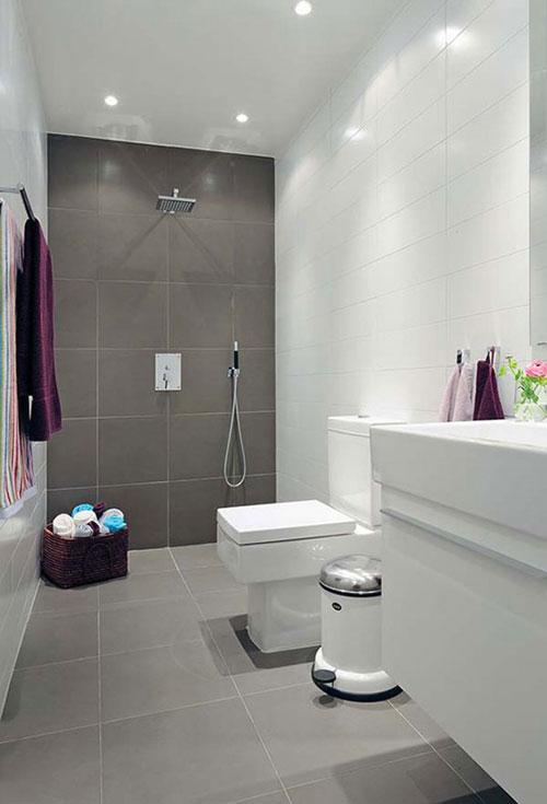 Betonlook tegels badkamer vloer en wand