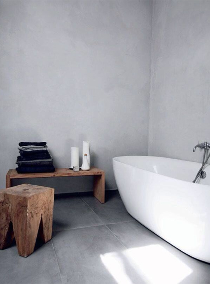 Betonlook tegels badkamer vloer