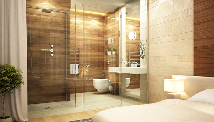 houtlook tegels badkamer - tg wonen woonmagazine, Badkamer