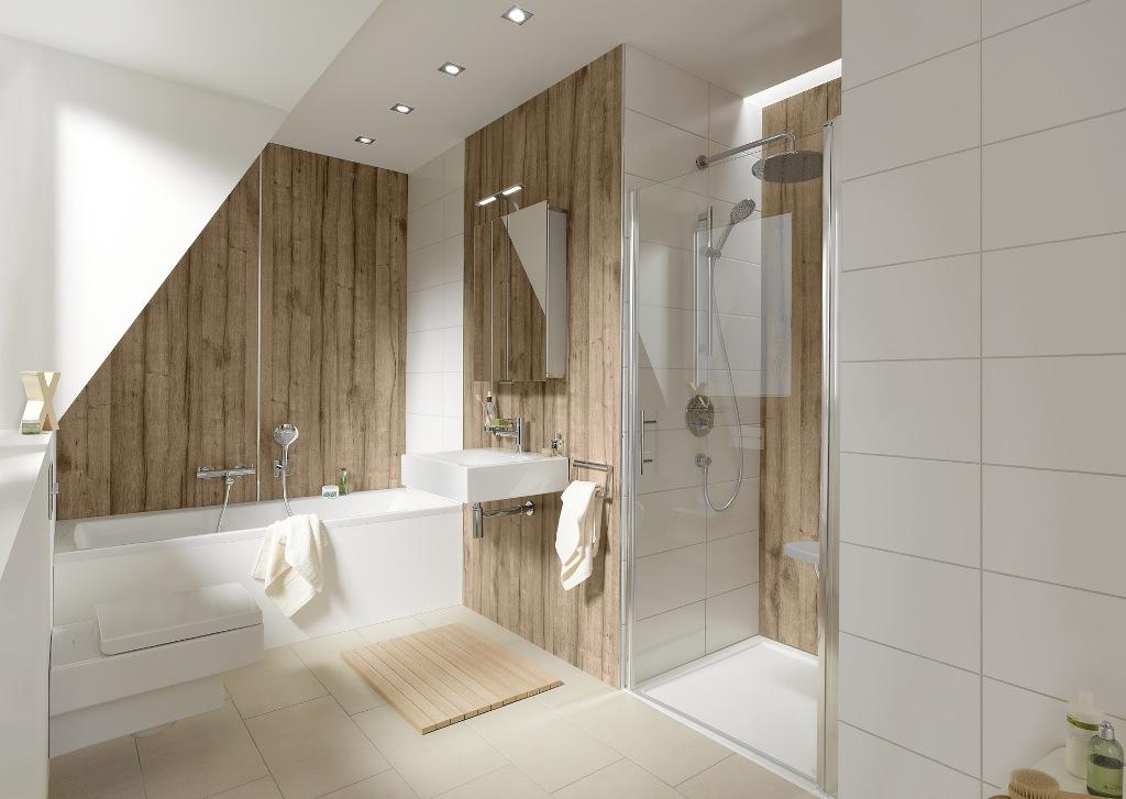 Houtlook tegels badkamer tgwonen for Badkamer artikelen
