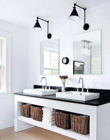 Badkamer laten stucen wit