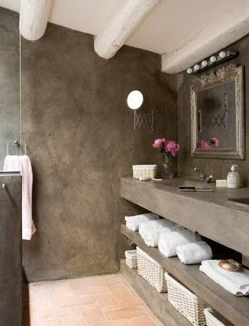 Betonlook badkamer stucen