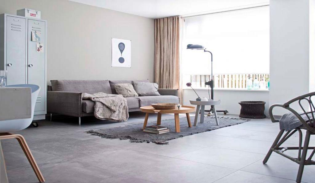 betonlook tegels woonkamer  tg wonen woonmagazine, Meubels Ideeën