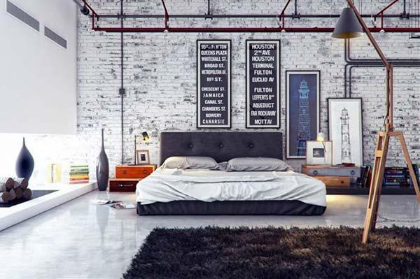 Brick Wall Bakstenen met betonvloer