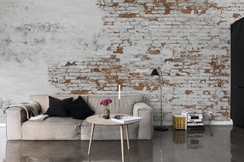 Stenen Muur Verven : Behang oude muur look