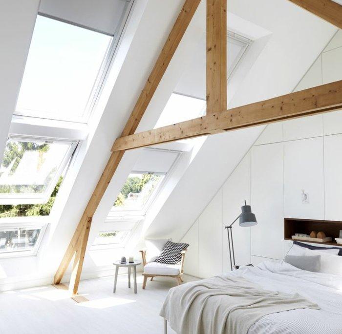Oude zolderkamer opknappen renoveren dakramen