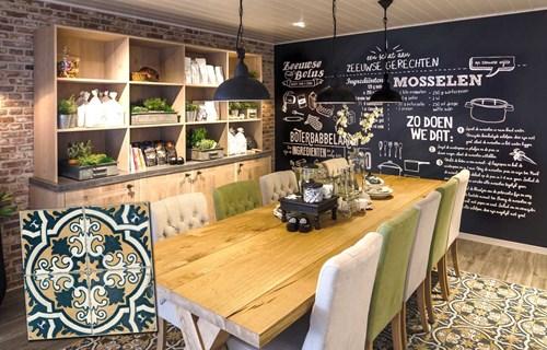 Keuken Vloertegels Inrichten : Portugese tegels in keuken tgwonen