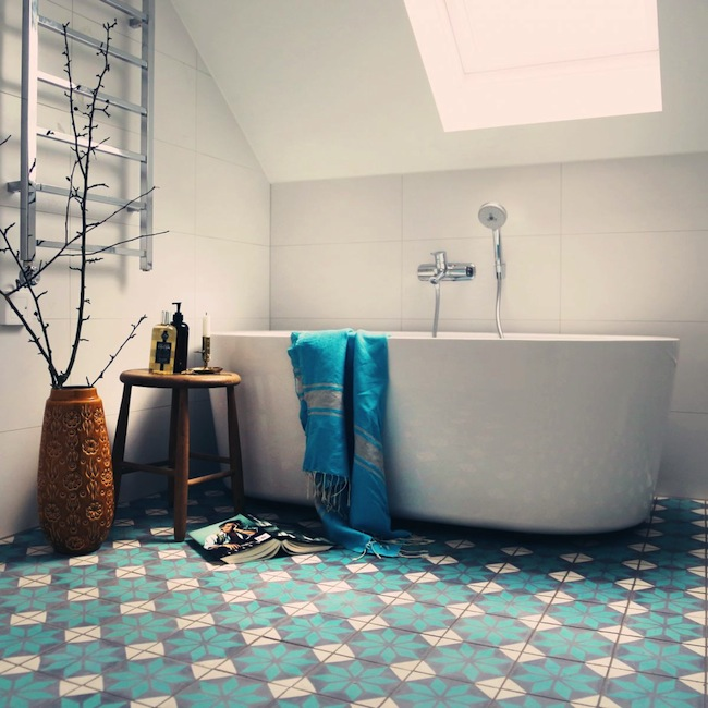 Tg wonen woonmagazine woon en klusmagazine inspiratie blog - Tegels badkamer vloer wit zwemwater ...