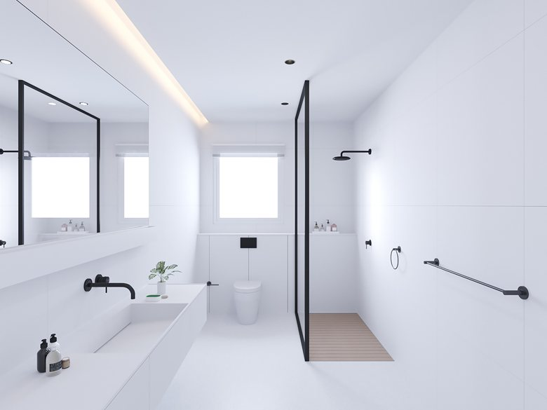 Goedkope Badkamer Matten : Badkamer met mat witte tegels witte badkamertegels zwd mat