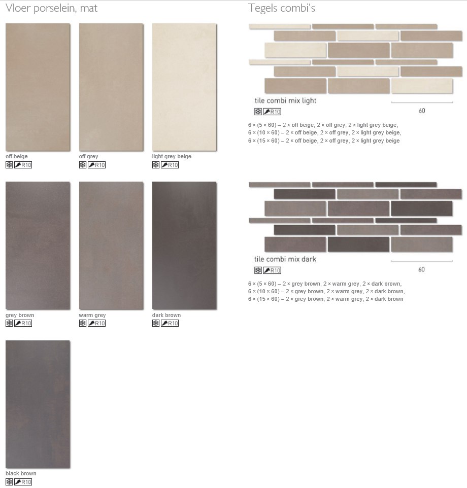 Uitgelezene Tegels Taupe kleur - TGWONEN KJ-15
