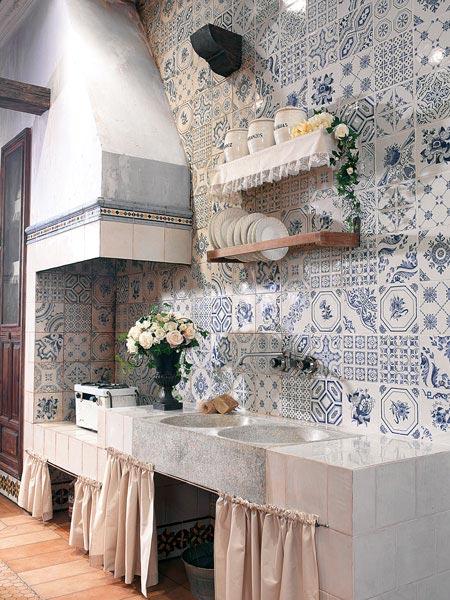 Keuken tegels patroon en patchwork