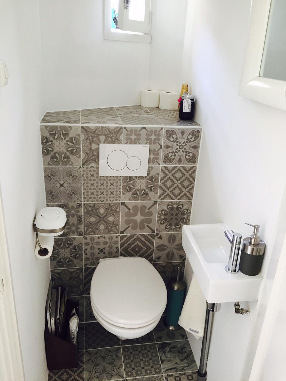 Patroontegels in toilet - Patchwork