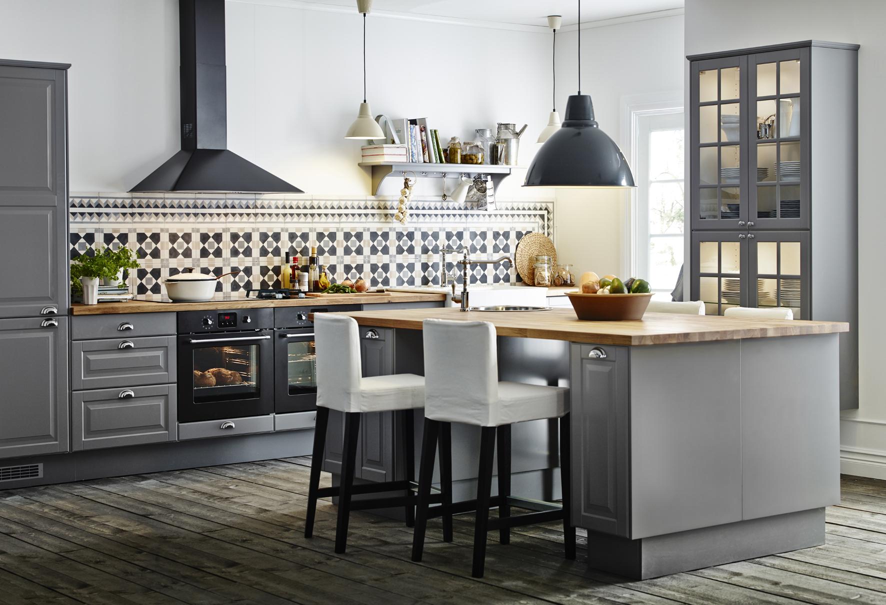 Patroontegels in keuken