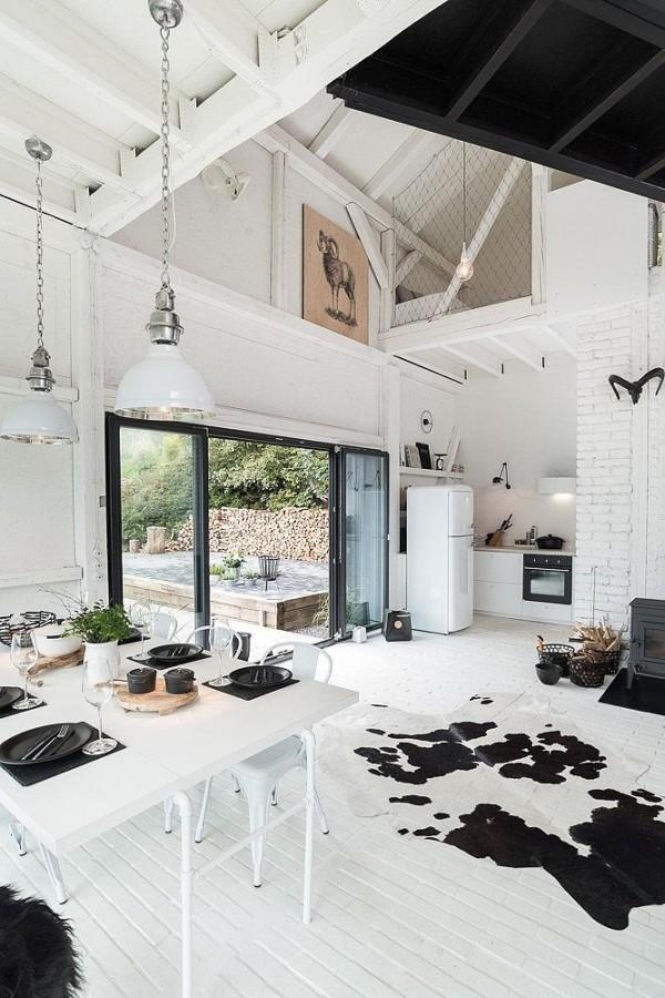 Koeienhuid Interieur Zwart Wit