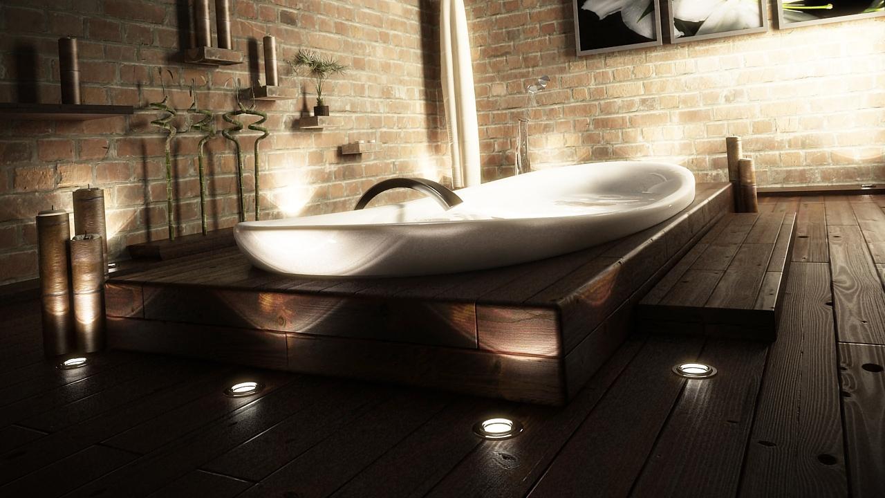 Badkamer zonder tegels