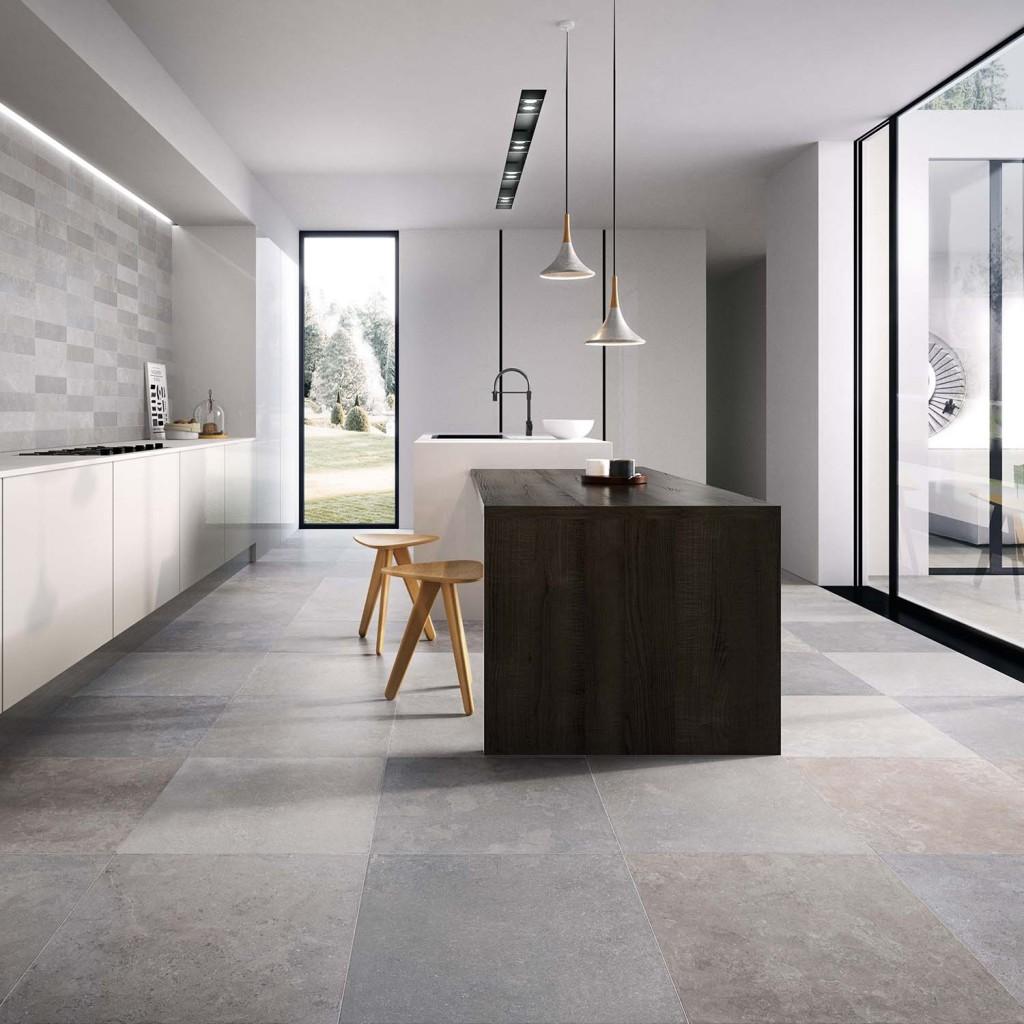 Moderne Vloertegels Woonkamer Keuken 60x60 Flaviker Now