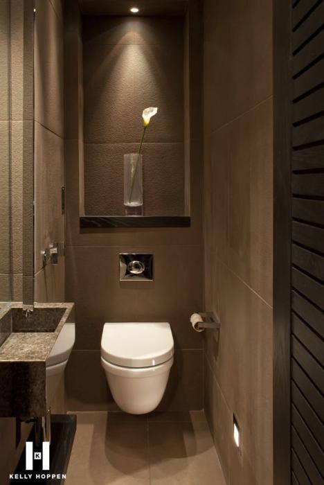Welk formaat tegels in het toilet?