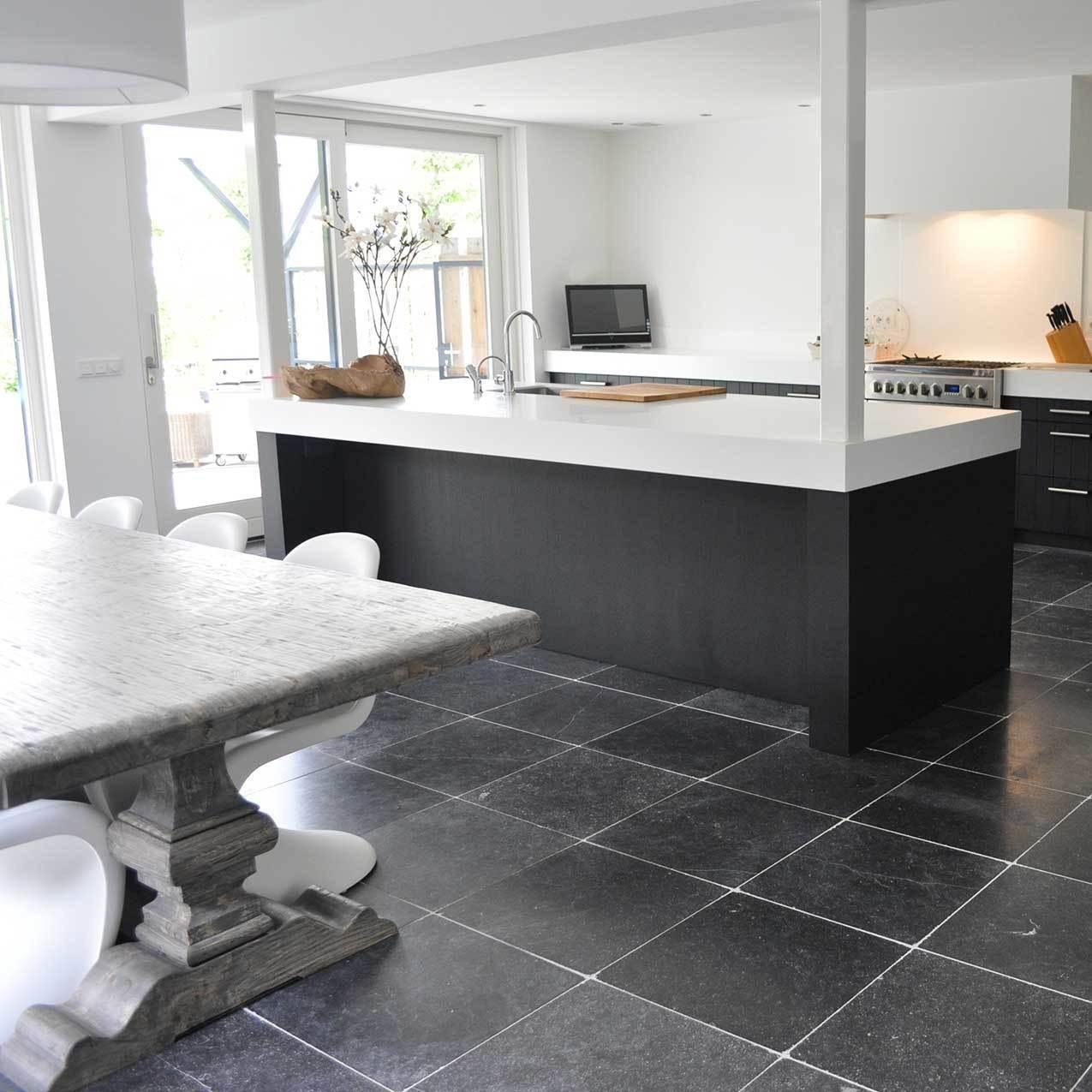 Belgisch hardsteen keukenvloer