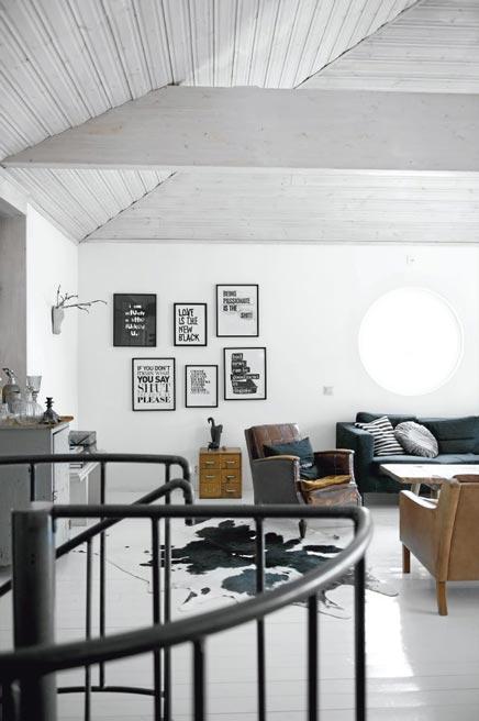 Contrasten inrichting woonkamer