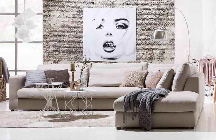 Moderne woonkamer inrichting met sfeer
