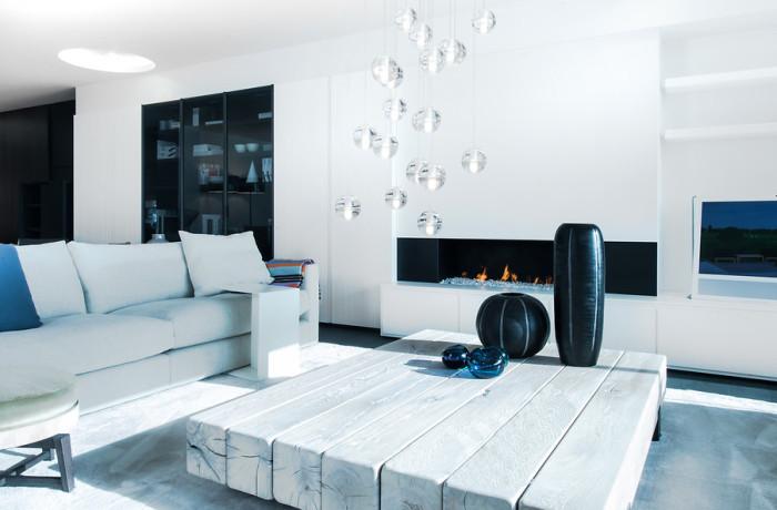 Sfeervolle moderne woonkamer meubels