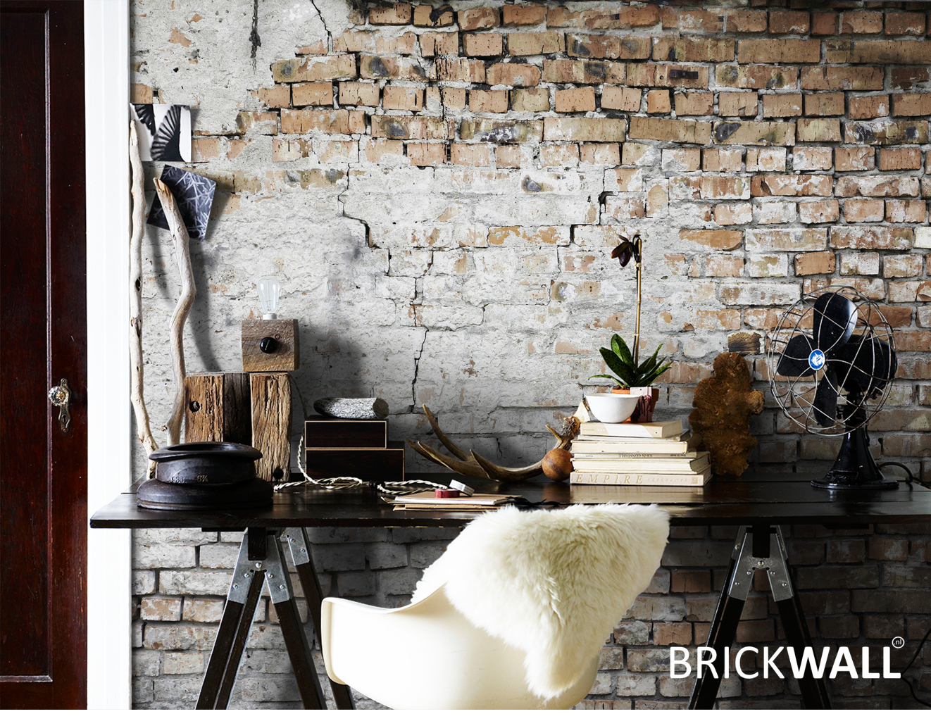 Echte Brickwall Muur Wand