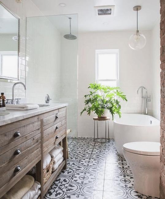 Badkamer Portugese Tegels Zwart Wit