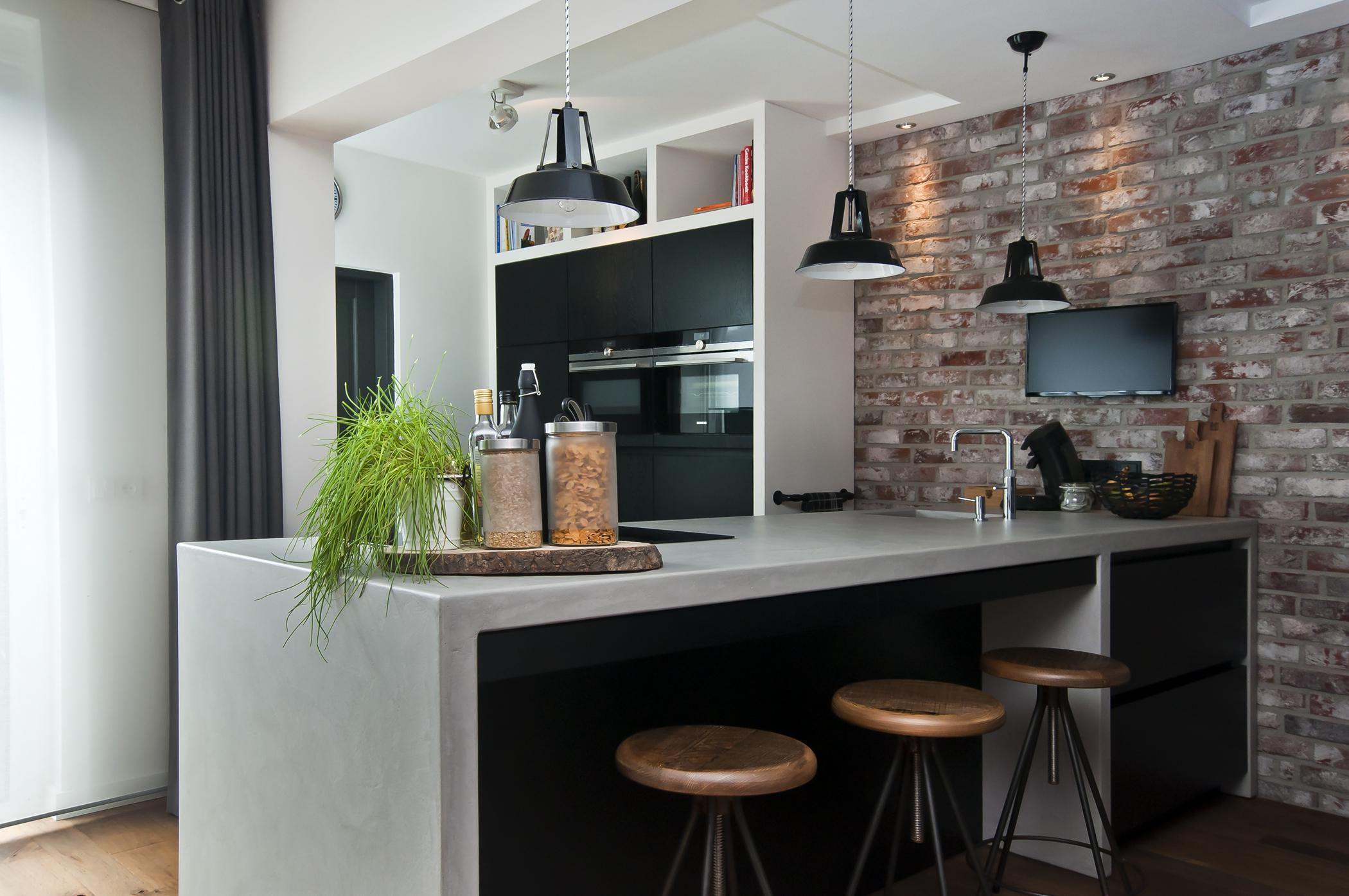 Bar in keuken woonkamer