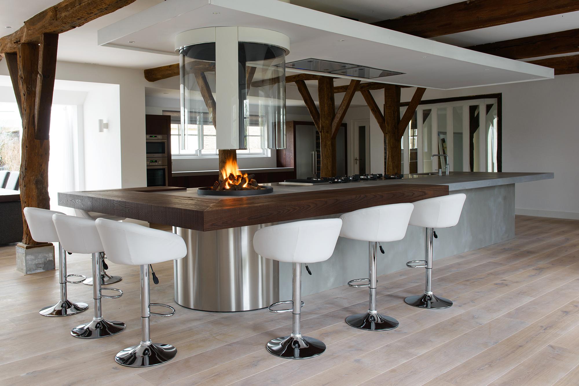 Bar in keuken woonkamer groot
