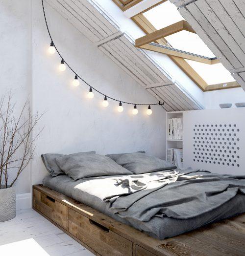 Welke kleur in de slaapkamer licht wit bruin