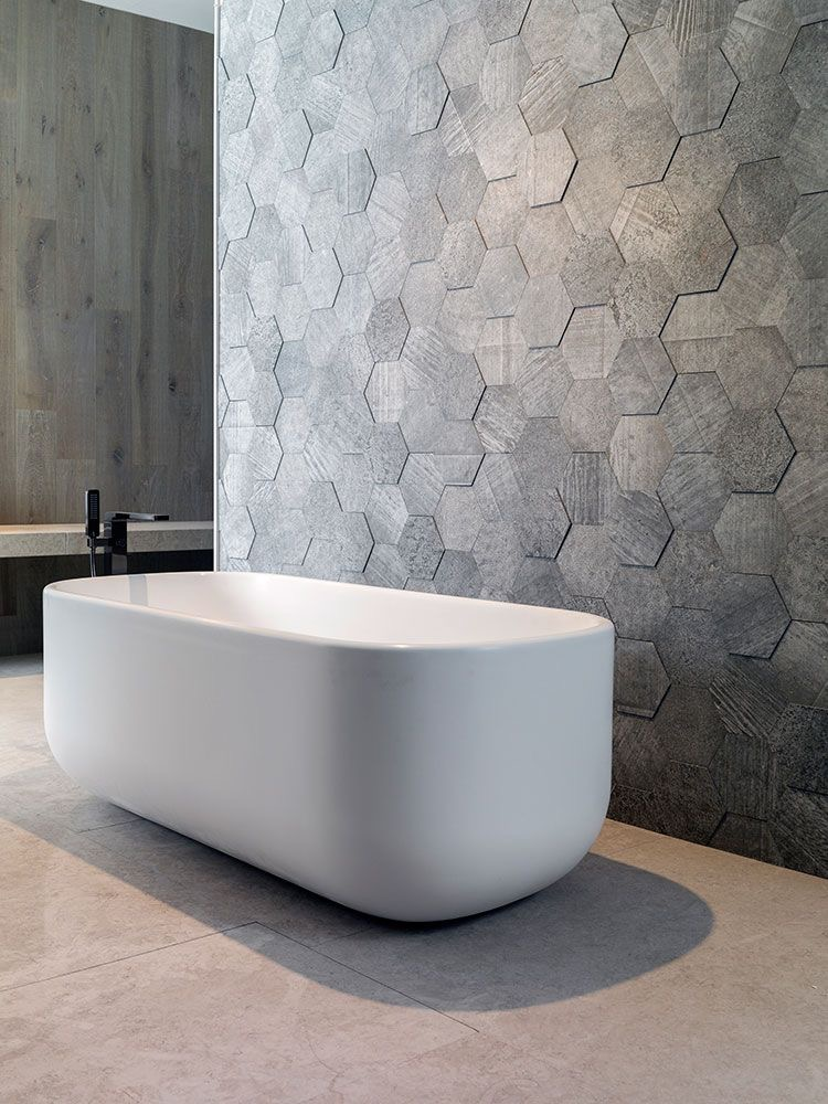Fonkelnieuw Hexagon Tegels Badkamer Betonlook Grijs Wand - TGWONEN CA-36