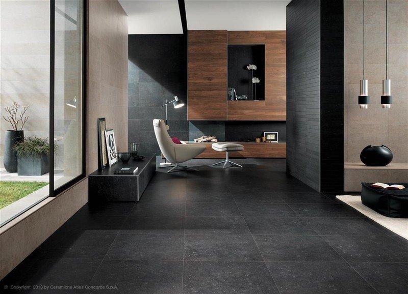 Vloer kiezen woonkamer donkere vloer Belgisch Hardsteen Imitatie