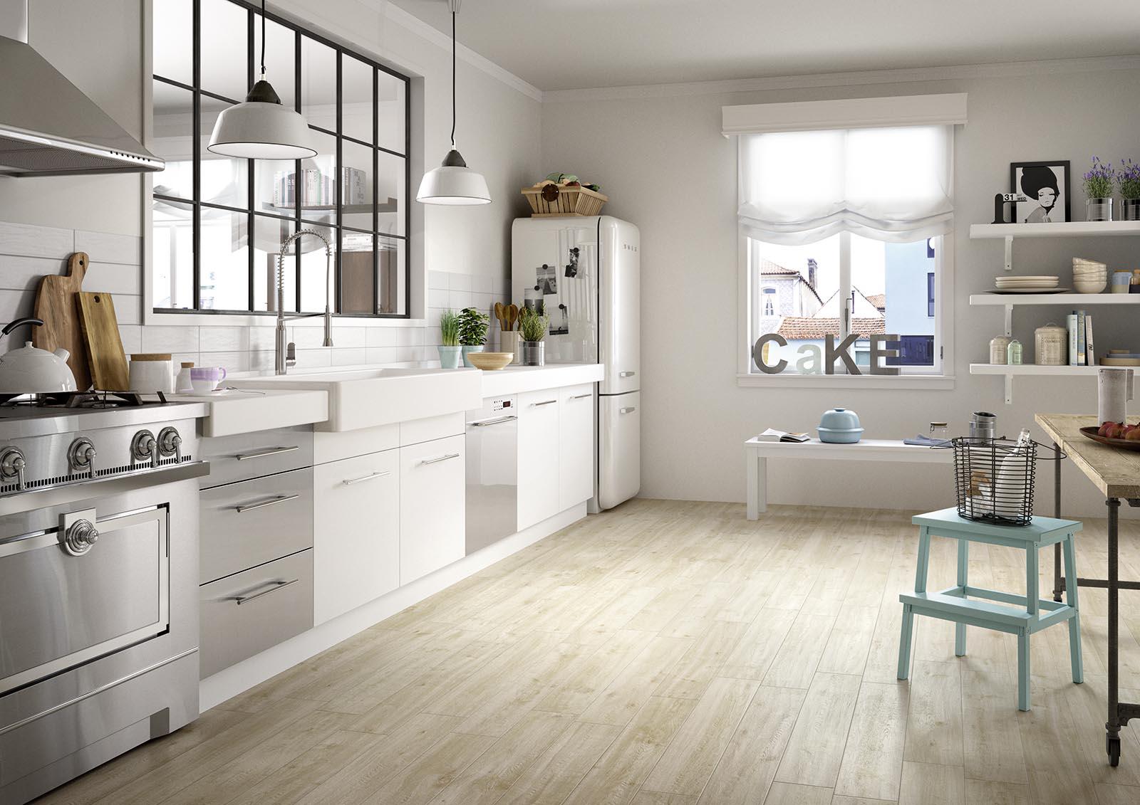 Vloertegels woonkamer houtlook beige 20X80
