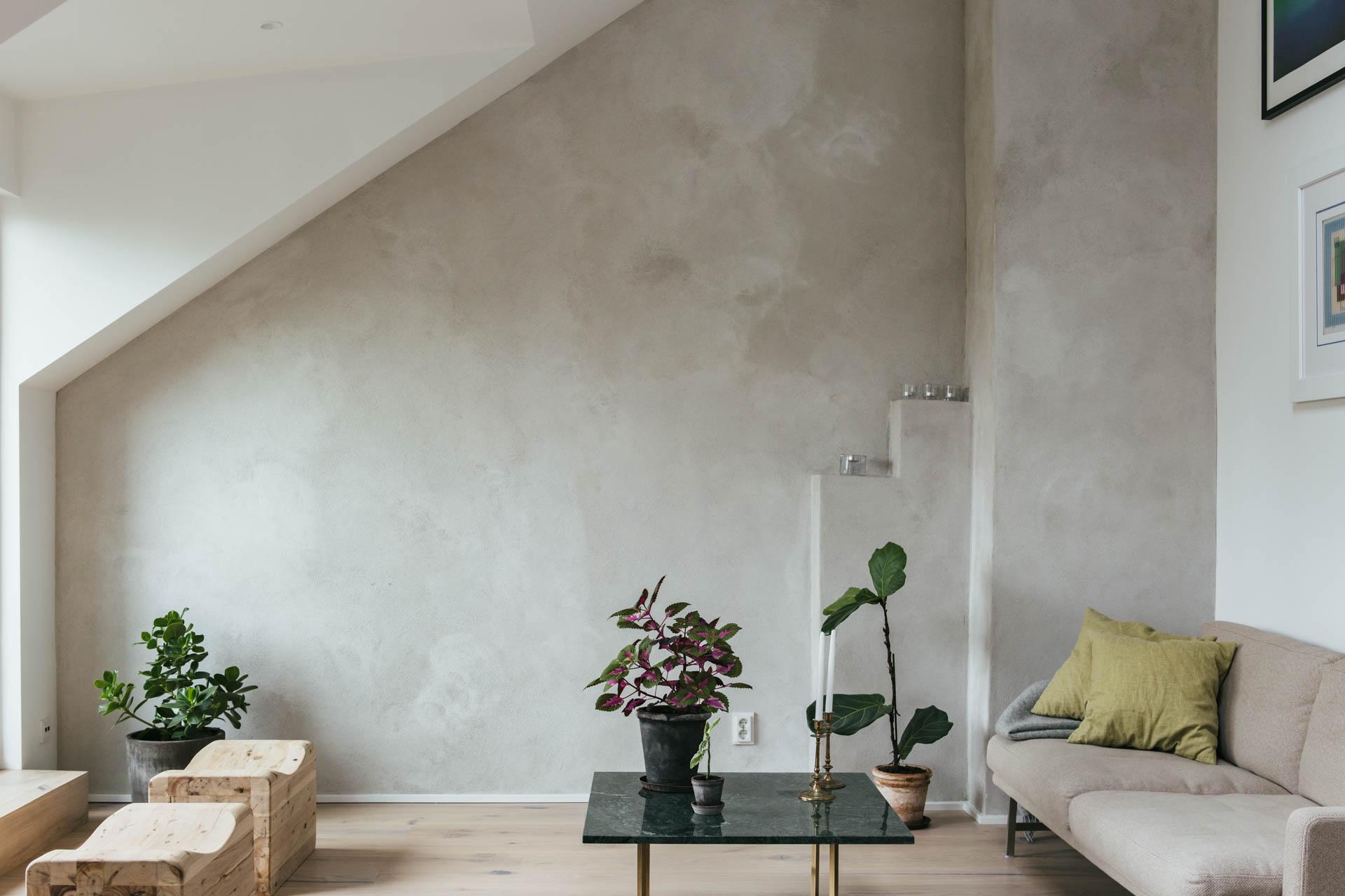 Betoncire Wand Zolder