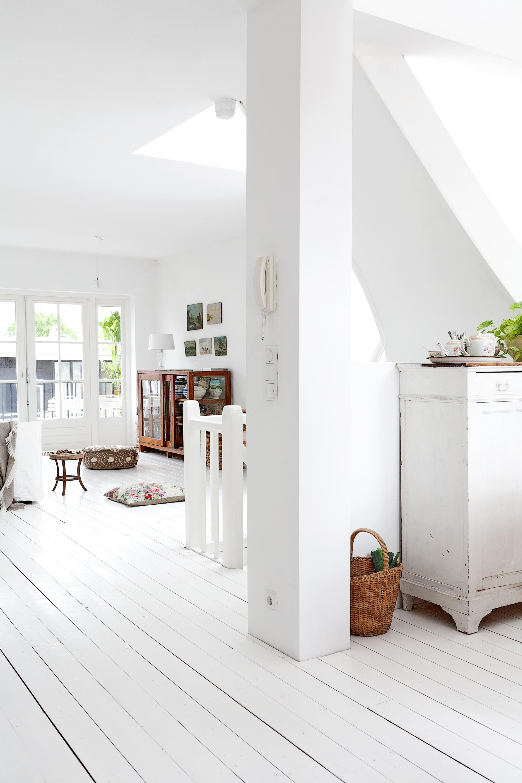 Houten vloer woonkamer wit